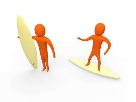 3d Surfers #1 photo