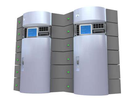 3d Silver Server  Foto de archivo