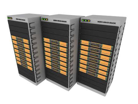 renderfarm: 3d Servers-Orange #3