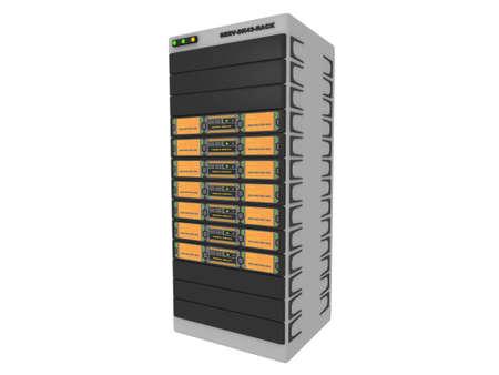 renderfarm: 3d Servers-Orange #1 Stock Photo