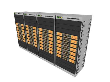 renderfarm: 3d Servers-Orange #4