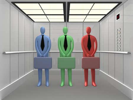 people in elevator: Elevator #2