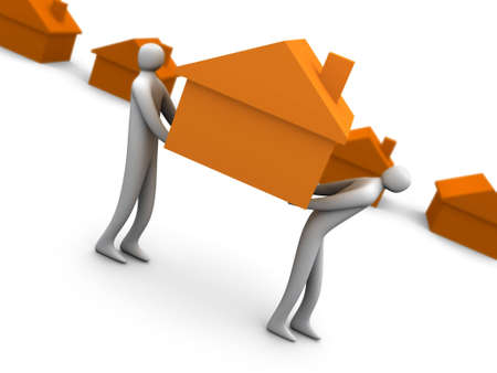 Business - Home Movers Stock Photo