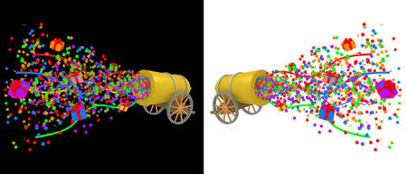 cannon: Computer generated image. Party Cannon Stock Photo