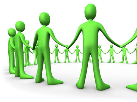 unification: United People - Green Stock Photo