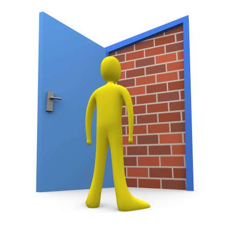 unable: Blocked Door #2 Stock Photo