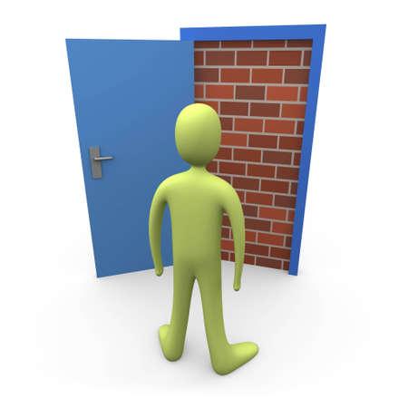 locked door: Blocked Door #1