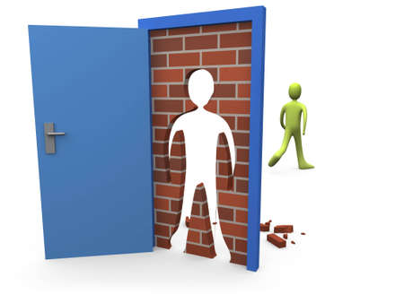 Bloqueado la puerta # 3