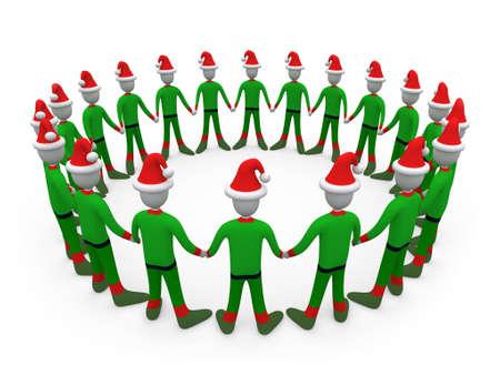 unification: Santas Helpers in Circle