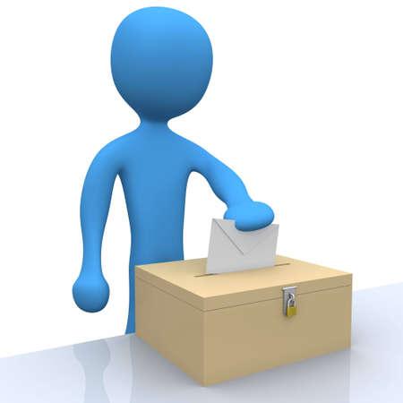 opinion poll: Voting Stock Photo