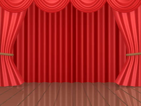 Computer generated image - Theatrical Stage. Stock Photo