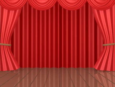 Imagen generada por ordenador - Escenario Teatral.