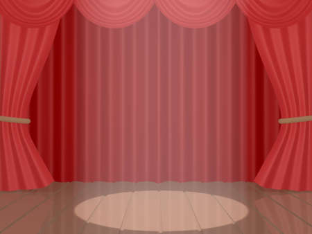 Computer generated image - Theatrical Stage. photo