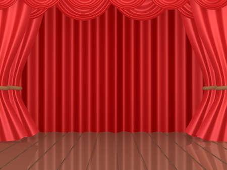 computer generated image: Generato dal computer immagine - Stage teatrale  Archivio Fotografico
