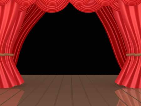 computer generated image: Computer generated image - Theatrical Stage. Stock Photo