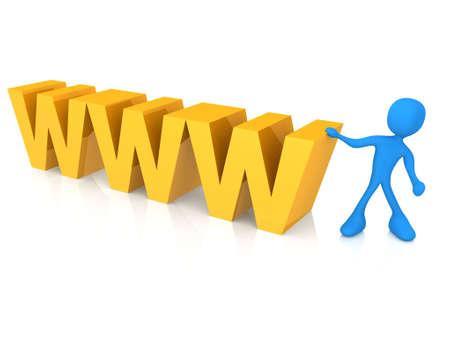 worldwideweb: Generato dal computer immagine - World Wide Web.  Archivio Fotografico