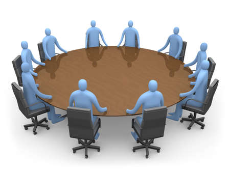 company board: People Having A Meeting Stock Photo