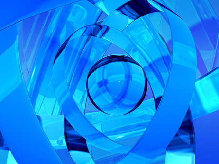 futurist: Computer generated abstract 3d design. Stock Photo
