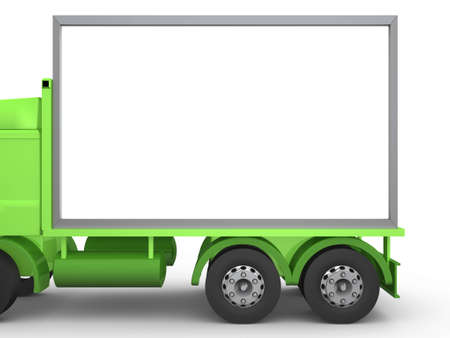posting: Billboard Truck Stock Photo