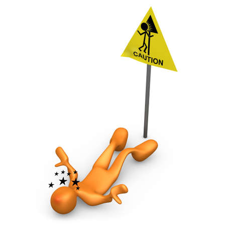 meaningless: Caution Sign Stock Photo