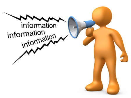organise: Giving Information Stock Photo