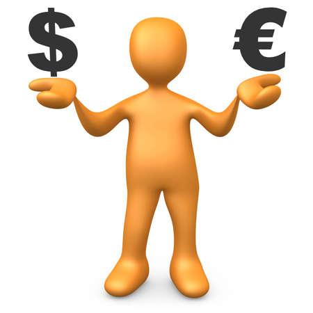 Dollar vs Euro photo