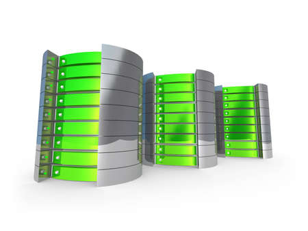 Computer generated image - 3D Servers . Stock Photo