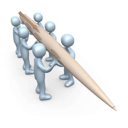 syndication: Write Together Stock Photo