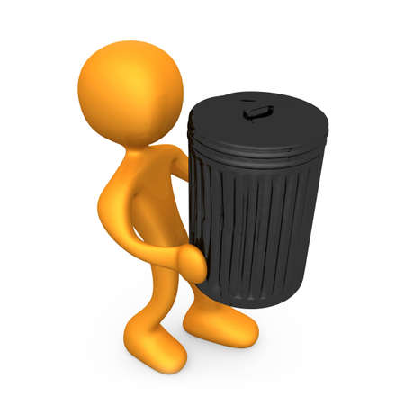 Computer generated image - Taking Out The Trash. Stock Photo