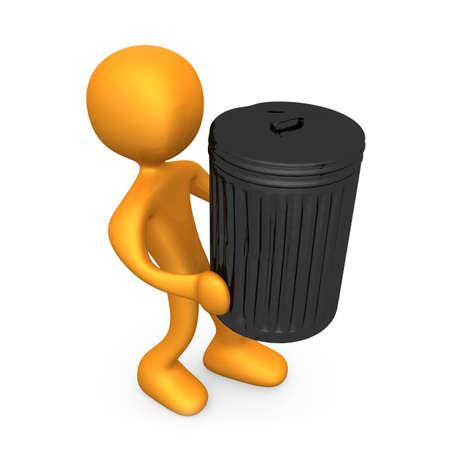 reciclar basura: Imagen generada por ordenador - sacar la basura.