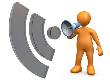 organise: Computer generated image - Blog Communication . Stock Photo