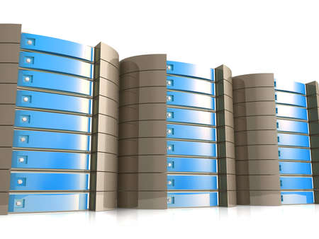 colocation: Web Hosting Equipment Stock Photo