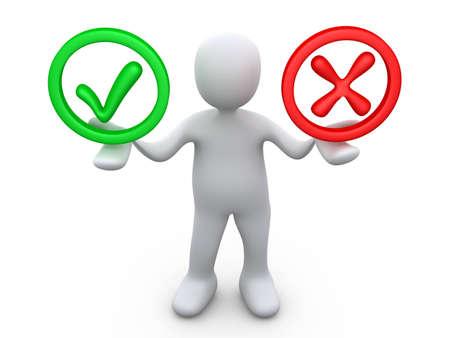 unecht: Richtig oder falsch Lizenzfreie Bilder