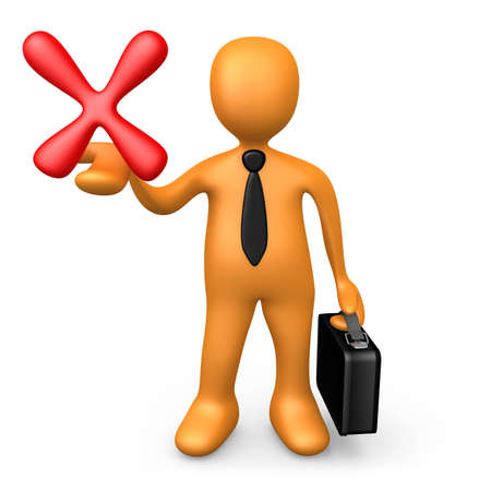 bad service: Bad Business Choice Stock Photo