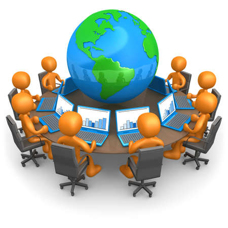administrativo: Computer Generated Image - Global Network