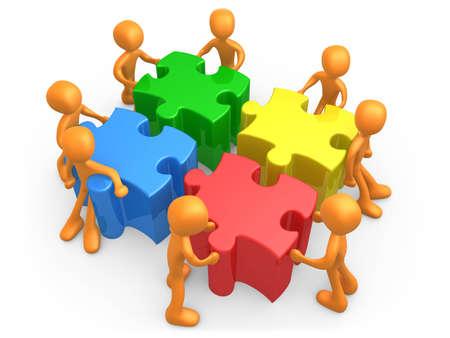 teamwork cartoon: Teamwork