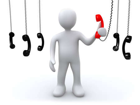 phonecall: The Most important Call Stock Photo