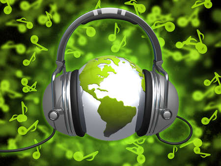 music dj: World Of Music Stock Photo