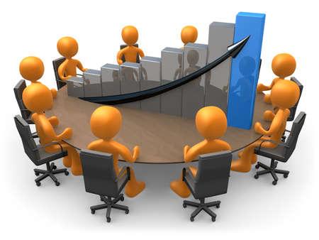 Statistics Meeting Stock Photo
