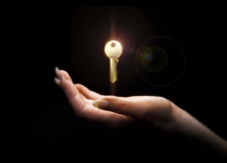golden key: art credit Stock Photo