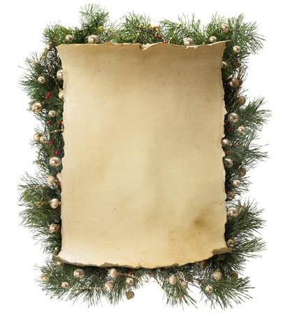 snow cone: frame made of fir branches