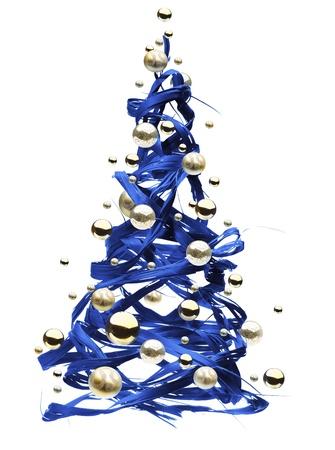 christmas scroll: Christmas tree design