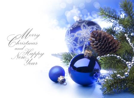 Art Christmas greeting card Stock Photo - 10460746