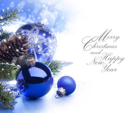 Art Christmas greeting card Stock Photo - 10460734