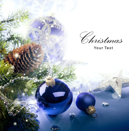 Art Christmas greeting card photo