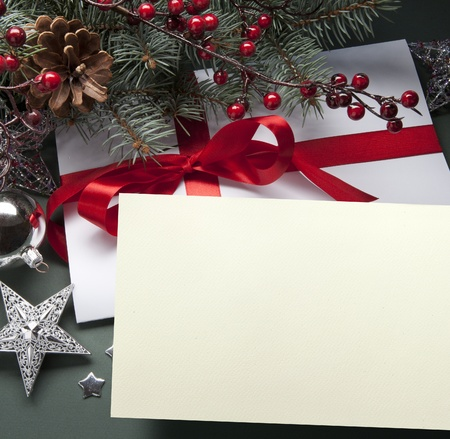 Christmas decorations (live tree, balls, star) Stock Photo - 10460766