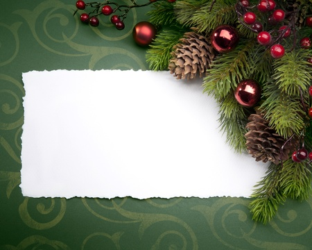 background card: Art Christmas greeting card