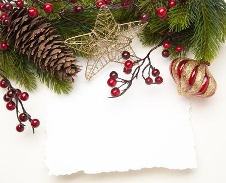 Art de Noël carte de voeux
