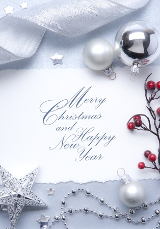 Art Christmas greeting card Stock Photo - 10460778