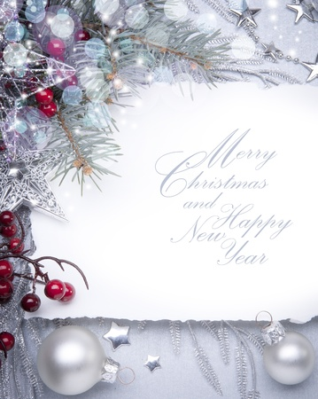 Art Christmas greeting card Stock Photo - 10460748